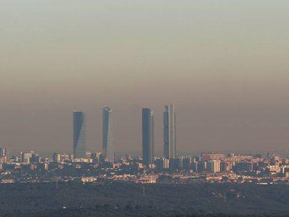 The skyline of the Spanish capital on Wednesday.