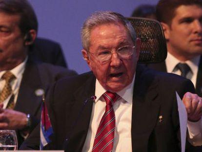 Raúl Castro at the third CELAC summit in Costa Rica.