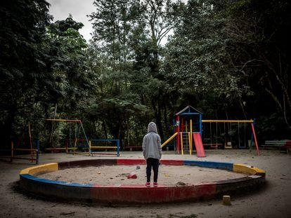 A park in São Paulo. More than half of all rape cases reported in Brazil were against children under the age of 13.