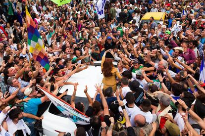 Followers of Cristina Kirchner in Buenos Aires.