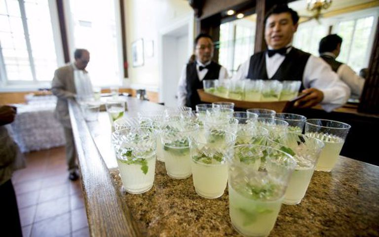 Mojitos ready to be served at the Cuban Embassy in Washington.
