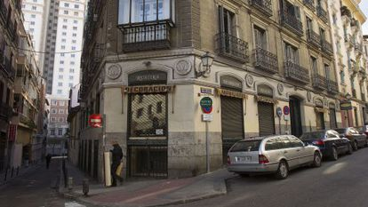 The Rustika store has shut down due to the end of rent control laws in Madrid.