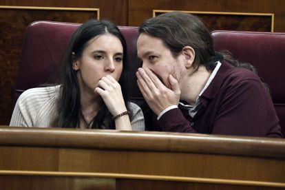 Irene Montero and Pablo Iglesias in a file photo.