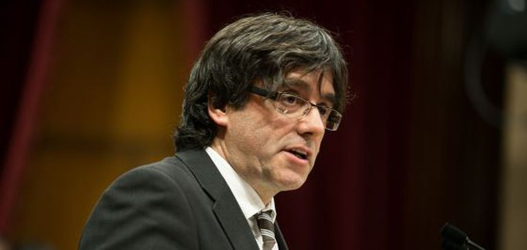 Carles Puigdemont during his investiture speech.