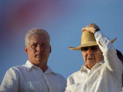 Raúl Castro and his possible successor, Miguel Díaz-Canel, last year in Havana.
