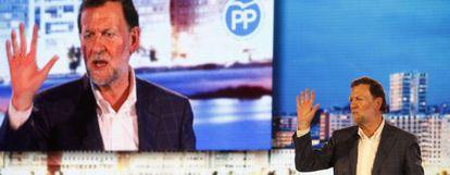 Prime Minister Mariano Rajoy at a Thursday rally in A Coruña.