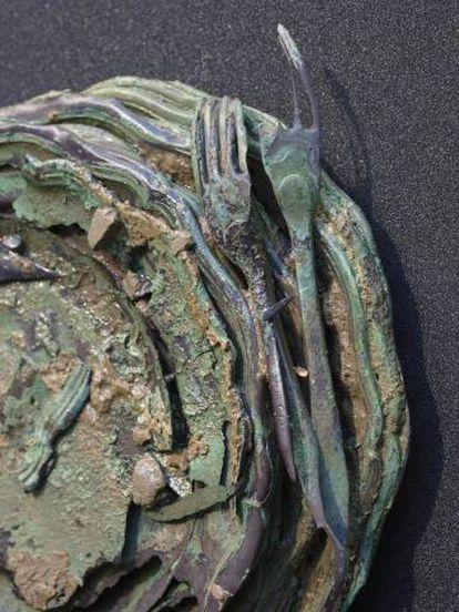 Cutlery salvaged from the Nuestra Señora de las Mercedes.
