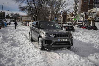 The Range Rover used by Miguel Benzo and Rodrigo Álvarez de Toledo to take Ana Gordillo to the hospital.