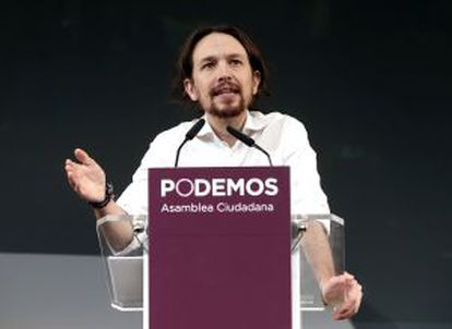 Podemos leader Pablo Iglesias (above) has said that the politicians who got Spain into the crisis will not get Spain out of it.