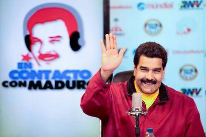 Venezuelan President Nicolás Maduro on a radio program