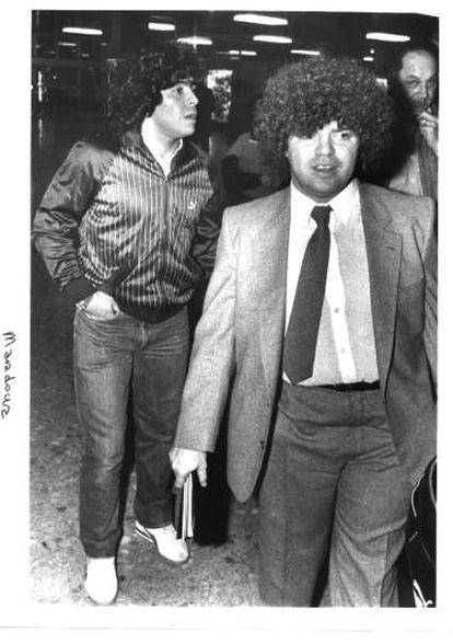 Jorge Cyterszpiler (right) and Diego Maradona.