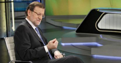 Prime Minister Rajoy, during Monday night's interview on Antena 3.