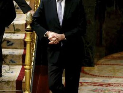 Mariano Rajoy standing in Congress in February.