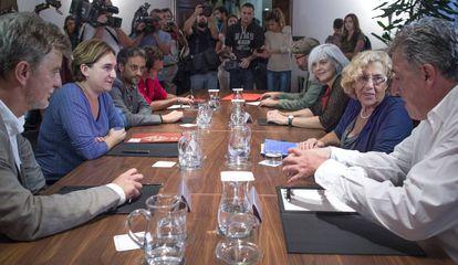 "The eight ""mayors of change"" in Barcelona."