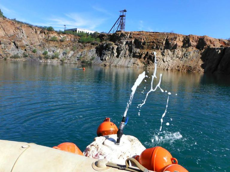 A pump has been installed to help release gas at Corta Guadiana.