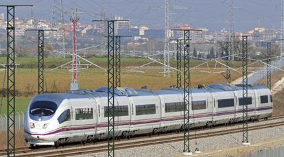 Spain's high-speed trains, such as the AVE (above), carried 1,954,000 passengers in February.