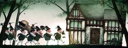 One of Iban Barrenetxea's illustrations from the Brothers Grimm's 'Snow White,' published by Nórdica.