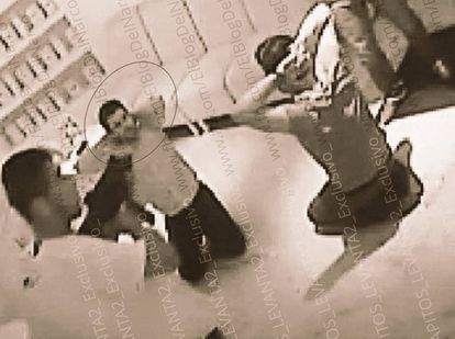 CCTV footage of the kidnapping of the son of 'El Chapo'.
