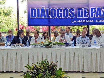 International mediators at the Havana peace talks.