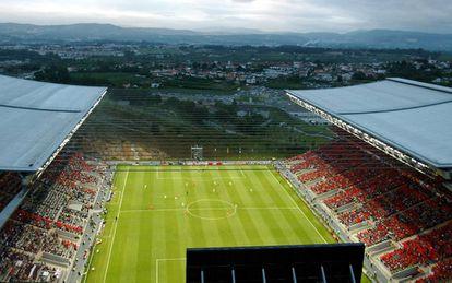 View of the Braga stadium in Portugal.