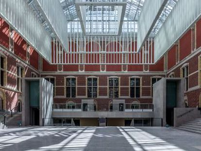 A view of the east patio of the Rijksmuseum taken in the process of its restoration, which was photographed by José Manuel Ballester.
