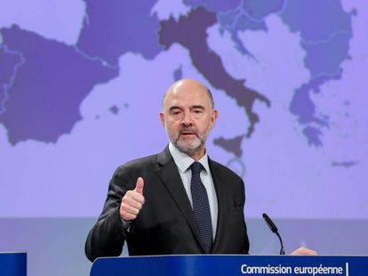 EU finance commissioner Pierre Moscovici.