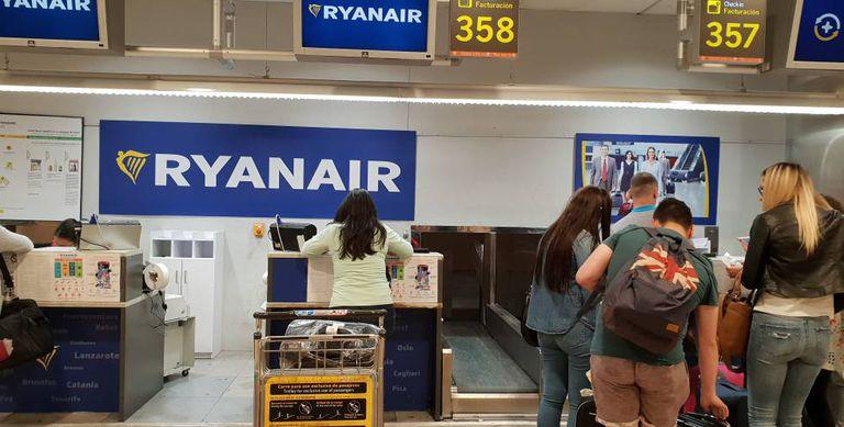 Barajas airport in Madrid.