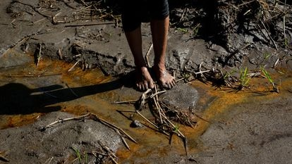 Monitoring of the oil spill along the River Coca, in Ecuador.