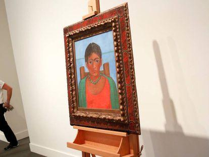 'Niña con collar' (Girl with Necklace) by Frida Kahlo at Sotheby's in New York.