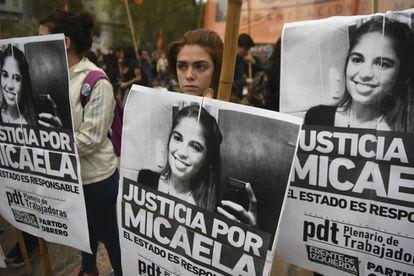 Marchers demand justice for Micaela García.