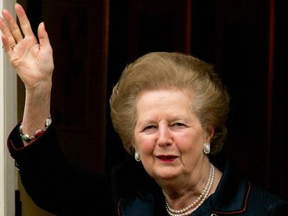 Margaret Thatcher, who died this week, pictured at her home in 2005.