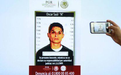 "Óscar Saúl ""N"", the suspect accused of murdering María Villar."