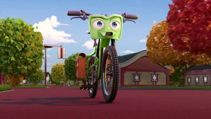 A still from the animation 'Bikes.'