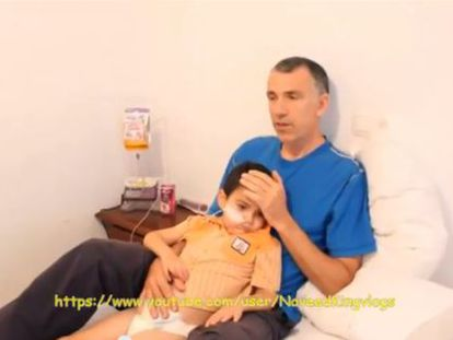 Video footage showing Ashya King with his father, who explained why they took their ill son out of hospital.