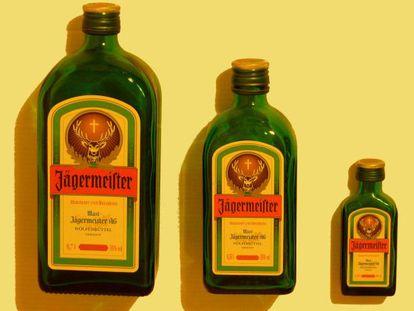 Bottles of Jägermeister.