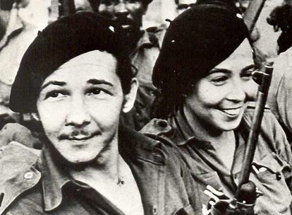 Raúl Castro and his wife Vilma Espín in the mountains of Sierra Maestra in an undated photograph.