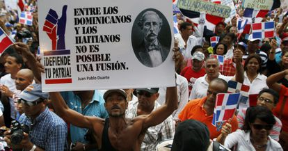 A demonstration held in favor of Constitutional Court's ruling.