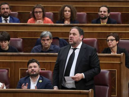 Oriol Junqueras speaking in Congress in May this year.
