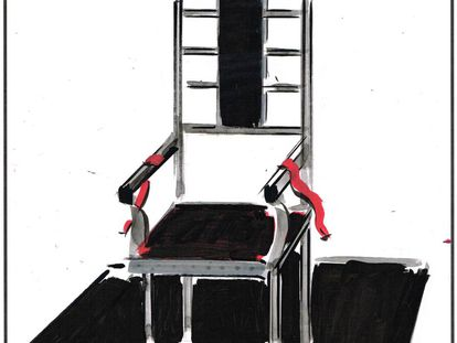 Keeping in step with the times, the electric chair ran on renewable energy.