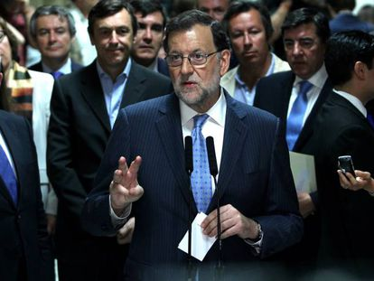 Acting Prime Minister Mariano Rajoy in Congress on Thursday.