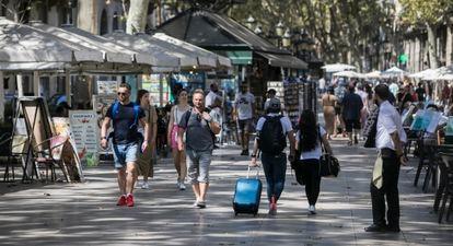 Barcelona's La Rambla street.