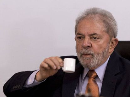 Lula Da Silva during the interview on Thursday.