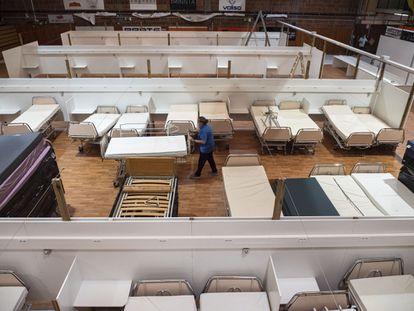A field hospital for coronavirus patients in Lleida.
