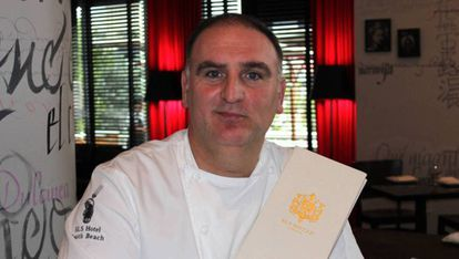 Spanish chef José Andres trained under Ferran Adrià at the El Bulli restaurant.