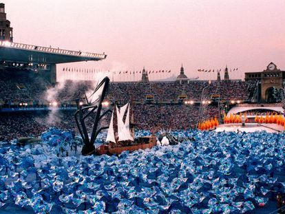 The opening ceremony of the 1992 Olympic Games in Barcelona (above) was directed by theater group Fura dels Baus.