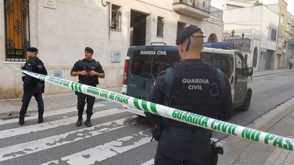 One of the raids on Monday in Sabadell.