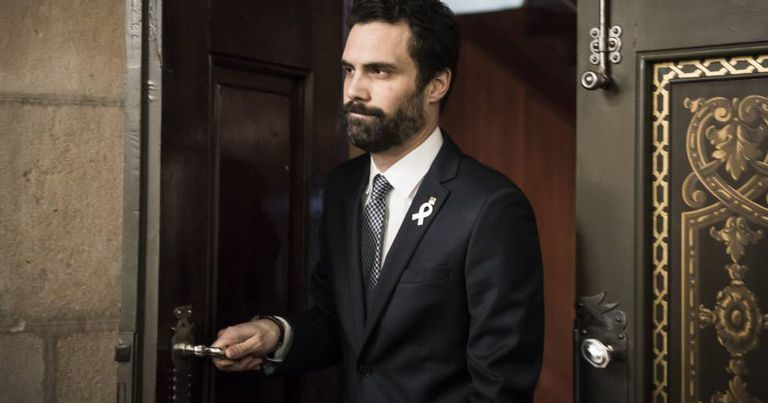 The speaker of the Catalan parliament, Roger Torrent.