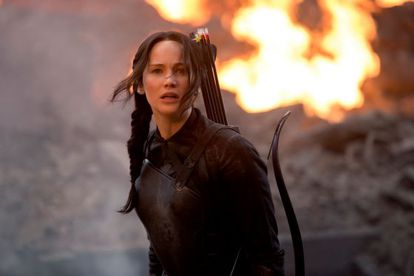 Taking a bow: Jennifer Lawrence in 'The Hunger Games: Mockingjay – Part 1.'