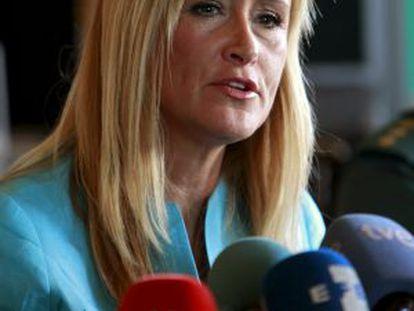 The central government delegate for the Madrid region, Cristina Cifuentes.
