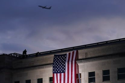 A plane taking off from Dulles International Airport in Washington in September 2020.